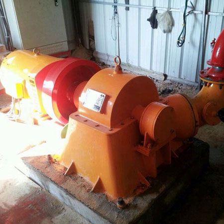 30KW turgo turbine at power plant