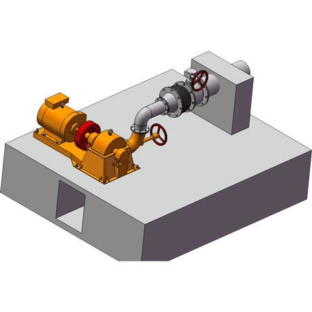 Pelton TURINE generator installation drawing