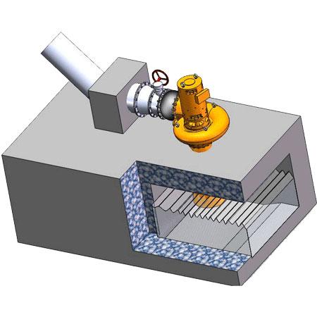 Propeller turbine generator final installation 3D drawing