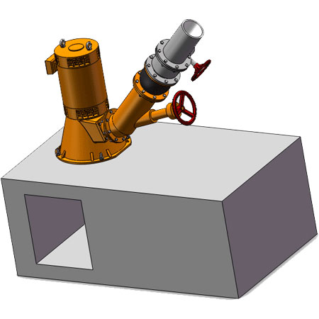 TURGO TURBINE generator vertical type installation Drawing